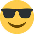 Smiling Face with Sunglasses on Twitter Twemoji 13.0.1