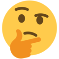 Thinking Face on Twitter Twemoji 13.0.1