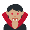 Vampire: Medium Skin Tone on Twitter Twemoji 13.0.1