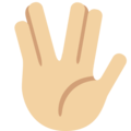 Vulcan Salute: Medium-Light Skin Tone on Twitter Twemoji 13.0.1