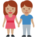 Woman and Man Holding Hands: Medium Skin Tone on Twitter Twemoji 13.0.1