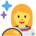 Woman Astronaut on Twitter Twemoji 13.0.1
