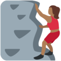 Woman Climbing: Medium-Dark Skin Tone on Twitter Twemoji 13.0.1
