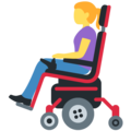 Woman in Motorized Wheelchair on Twitter Twemoji 13.0.1