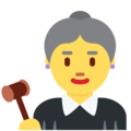 Woman Judge on Twitter Twemoji 13.0.1
