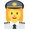 Woman Pilot on Twitter Twemoji 13.0.1