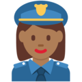 Woman Police Officer: Medium-Dark Skin Tone on Twitter Twemoji 13.0.1