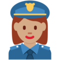 Woman Police Officer: Medium Skin Tone on Twitter Twemoji 13.0.1