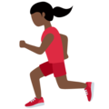 Woman Running: Dark Skin Tone on Twitter Twemoji 13.0.1