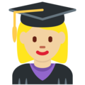 Woman Student: Medium-Light Skin Tone on Twitter Twemoji 13.0.1