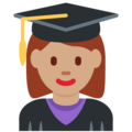 Woman Student: Medium Skin Tone on Twitter Twemoji 13.0.1