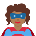 Woman Superhero: Medium-Dark Skin Tone on Twitter Twemoji 13.0.1