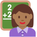 Woman Teacher: Medium-Dark Skin Tone on Twitter Twemoji 13.0.1