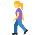 Woman Walking on Twitter Twemoji 13.0.1