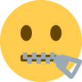 Zipper-Mouth Face on Twitter Twemoji 13.0.1