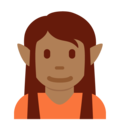 Elf: Medium-Dark Skin Tone on Twitter Twemoji 13.0.2