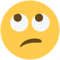 Face with Rolling Eyes on Twitter Twemoji 13.0.2