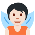 Fairy: Light Skin Tone on Twitter Twemoji 13.0.2