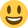 Grinning Face with Big Eyes on Twitter Twemoji 13.0.2