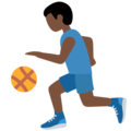 Man Bouncing Ball: Dark Skin Tone on Twitter Twemoji 13.0.2