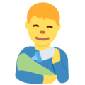 Man Feeding Baby on Twitter Twemoji 13.0.2