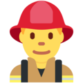 Man Firefighter on Twitter Twemoji 13.0.2