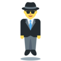 Man in Suit Levitating on Twitter Twemoji 13.0.2
