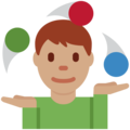 Man Juggling: Medium Skin Tone on Twitter Twemoji 13.0.2