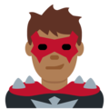 Man Supervillain: Medium-Dark Skin Tone on Twitter Twemoji 13.0.2