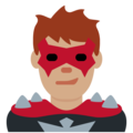 Man Supervillain: Medium Skin Tone on Twitter Twemoji 13.0.2