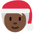 Mx Claus: Dark Skin Tone on Twitter Twemoji 13.0.2