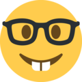 Nerd Face on Twitter Twemoji 13.0.2