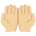 Palms Up Together: Medium-Light Skin Tone on Twitter Twemoji 13.0.2