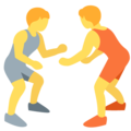 People Wrestling on Twitter Twemoji 13.0.2
