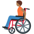 Person in Manual Wheelchair: Medium-Dark Skin Tone on Twitter Twemoji 13.0.2