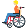 Person in Manual Wheelchair: Medium-Light Skin Tone on Twitter Twemoji 13.0.2