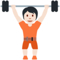 Person Lifting Weights: Light Skin Tone on Twitter Twemoji 13.0.2