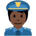 Police Officer: Dark Skin Tone on Twitter Twemoji 13.0.2