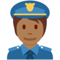 Police Officer: Medium-Dark Skin Tone on Twitter Twemoji 13.0.2