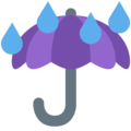 Umbrella with Rain Drops on Twitter Twemoji 13.0.2