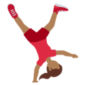 Woman Cartwheeling: Medium-Dark Skin Tone on Twitter Twemoji 13.0.2