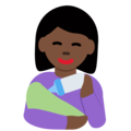 Woman Feeding Baby: Dark Skin Tone on Twitter Twemoji 13.0.2