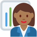 Woman Office Worker: Medium-Dark Skin Tone on Twitter Twemoji 13.0.2