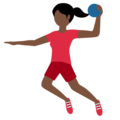 Woman Playing Handball: Dark Skin Tone on Twitter Twemoji 13.0.2