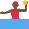 Woman Playing Water Polo: Dark Skin Tone on Twitter Twemoji 13.0.2