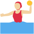 Woman Playing Water Polo: Medium-Light Skin Tone on Twitter Twemoji 13.0.2