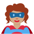 Woman Superhero: Medium Skin Tone on Twitter Twemoji 13.0.2