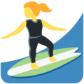 Woman Surfing on Twitter Twemoji 13.0.2