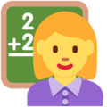 Woman Teacher on Twitter Twemoji 13.0.2