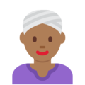 Woman Wearing Turban: Medium-Dark Skin Tone on Twitter Twemoji 13.0.2